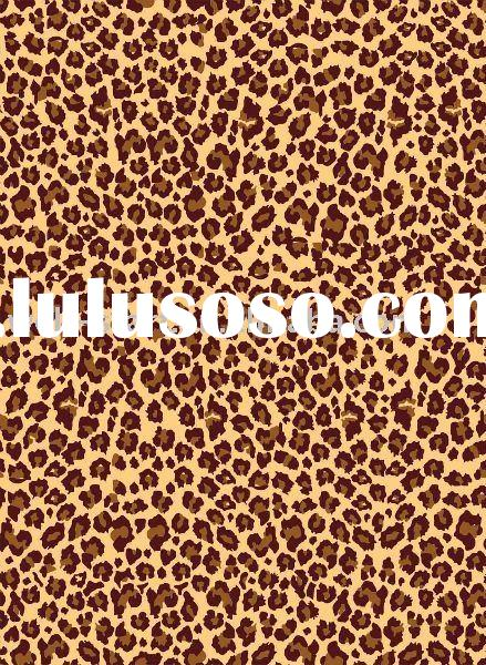 Leopard animal skin designs printed satin fabric for garment fashions