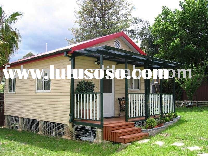 Low cost green prefab mobile home,vacation house for family