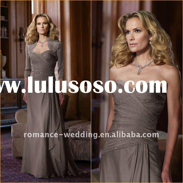 ME0100 Ruched Strapless Vintage Mother of the Bride Dress With Jacket