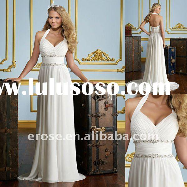 ML-B058 Sheath Halter Open Back Wedding Dresses