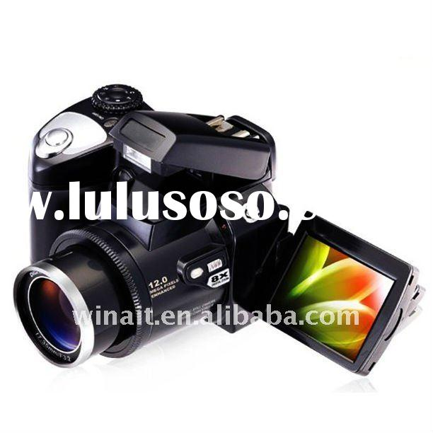 Maximum 12MP 5-in-1 Multi Function Professional Digital Camera with 2.4-inch LTPS LCD/4 Times Zoom