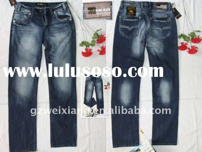 Men fashion denim jeans,2012 latest design jeans