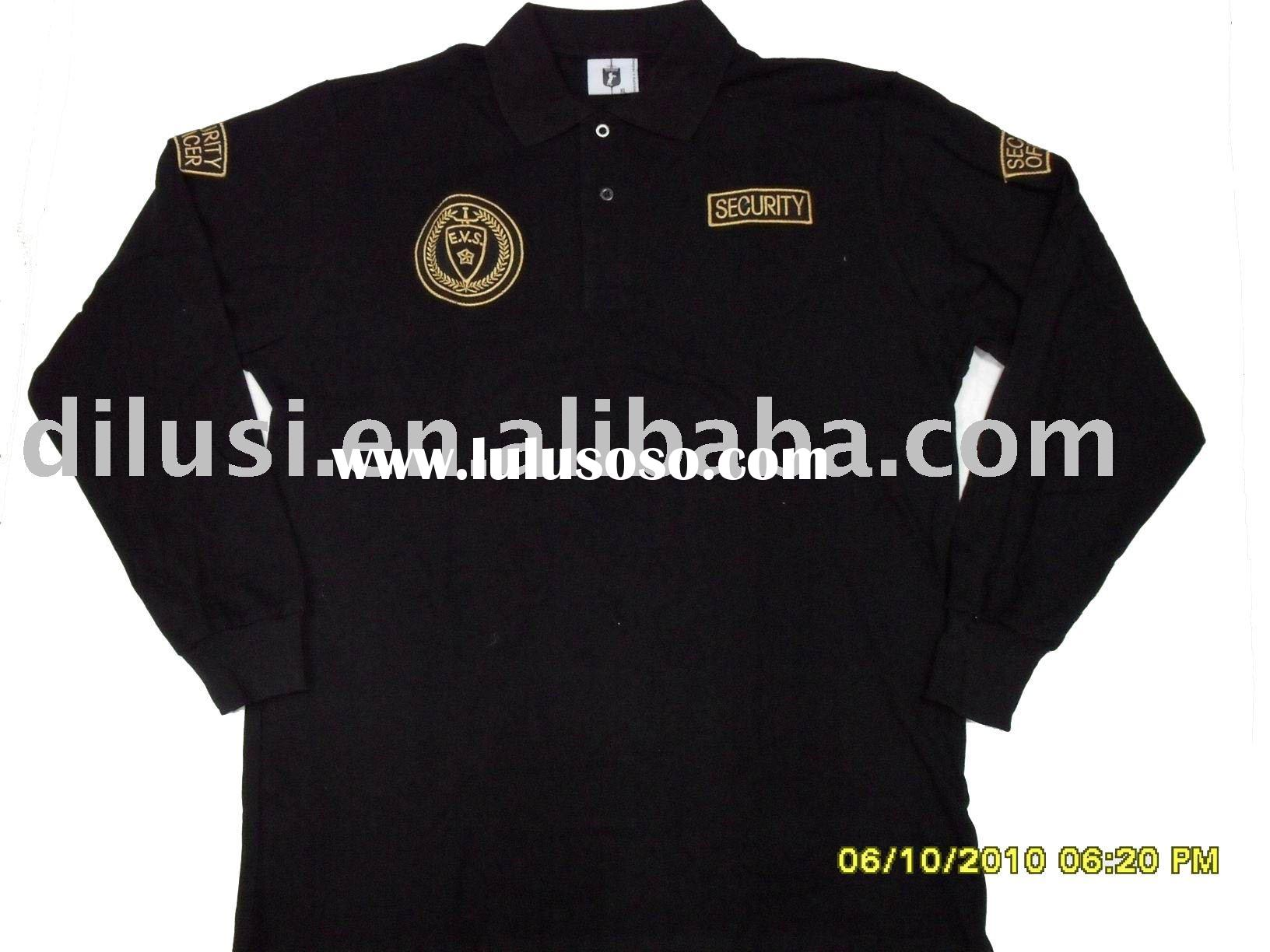 Men's designer popular t-shirt POLO with long sleeve 100% cotton, T0042
