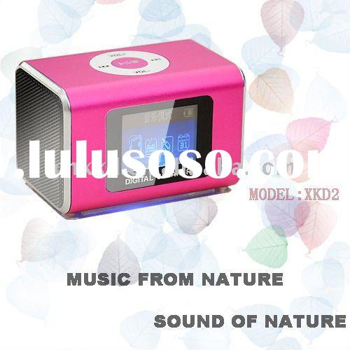 Mini Speaker MP3 MP4 USB SD Card Reader + FM Radio