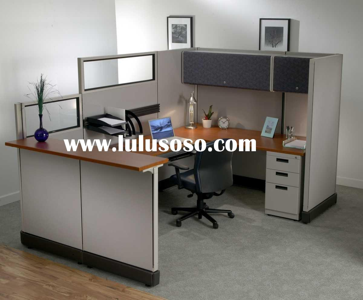 Modern Style Office Reception cubicle In Aluminium Partitions