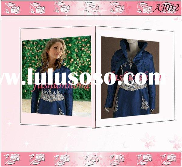 Modern bolero jacket with leading and attractive design lace and organza AJ012
