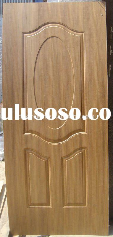 Natural mahogany sapele veneer hdf mdf moulded door skin for Mahogany door skin