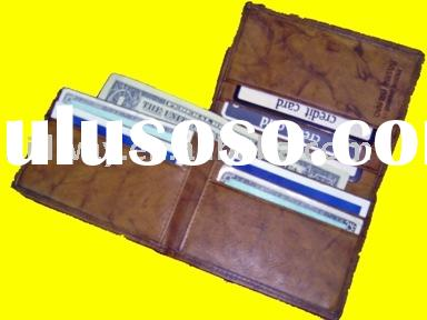 NEW SOFT COWHIDE GENUINE COWHIDE LEATHER MENS TRIFOLD WALLET CREDIT CARD HOLDER BILLFOLD WALLET