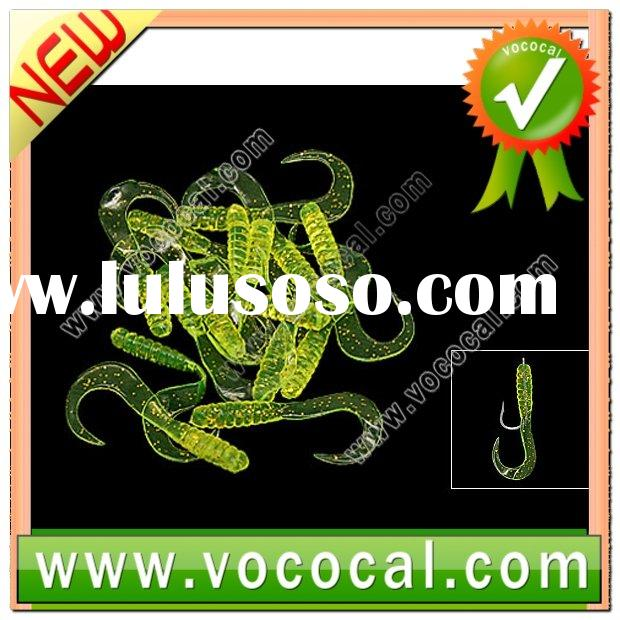 New Clear Shape Green Silicone Soft Lure Fishing Bait