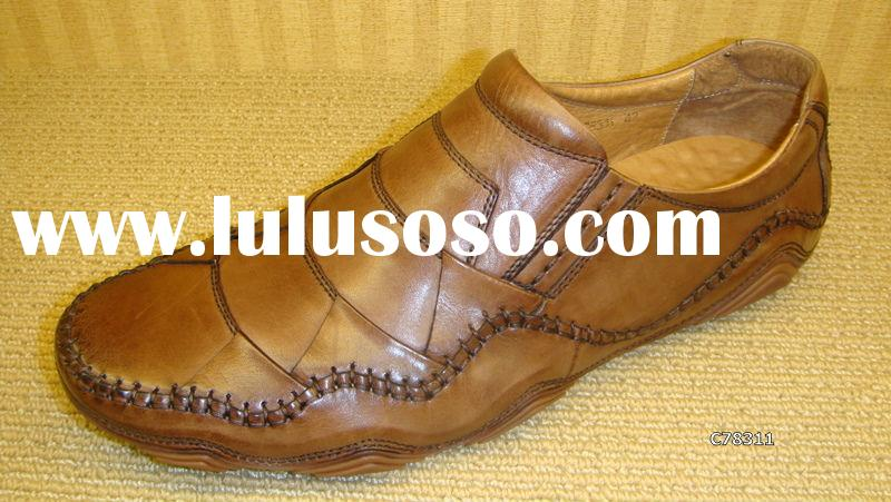New Design Brand New ABA Brown color fashion Mens leather dress casual shoes