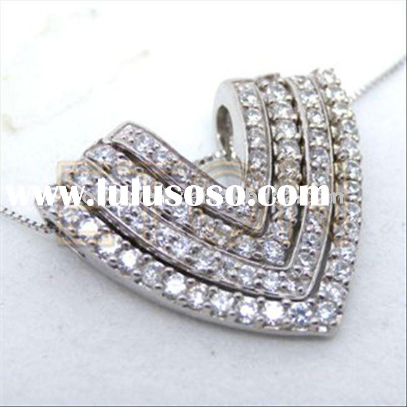 New arrival mould design 925 sterling silver heart jewelry(P3721)