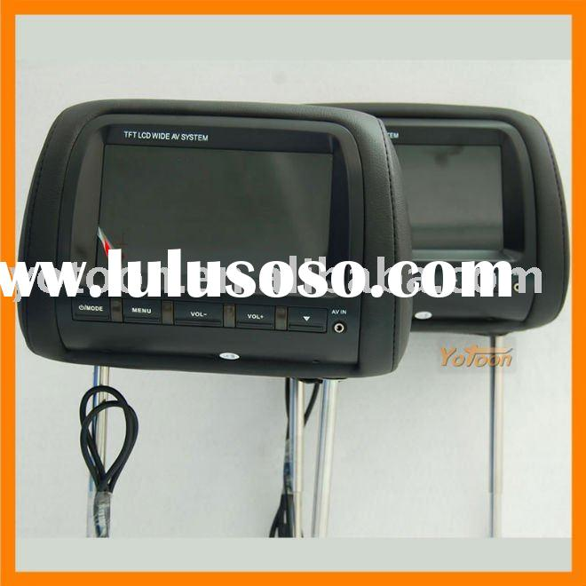 Newest 2X7'' Car Headrest TFT LCD Monitor with Pillow