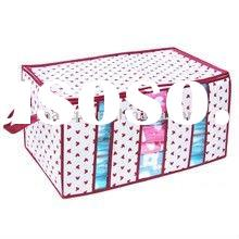 Non-woven Quilt storage bags/Bedding Wardrobe bag/Folding Underbed Clothes Organizer with Cover