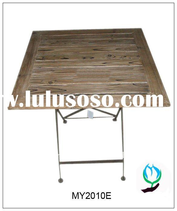 Outdoor wooden table