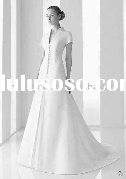 Wedding Dresses For Flat Chest Perfect Lady Short Sleeve Cover On Stain