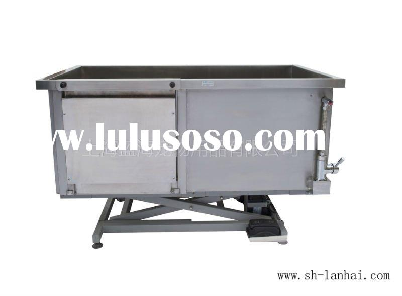 Hydraulic Dog Bath Tub : Hydraulic lift table dog grooming with oval board