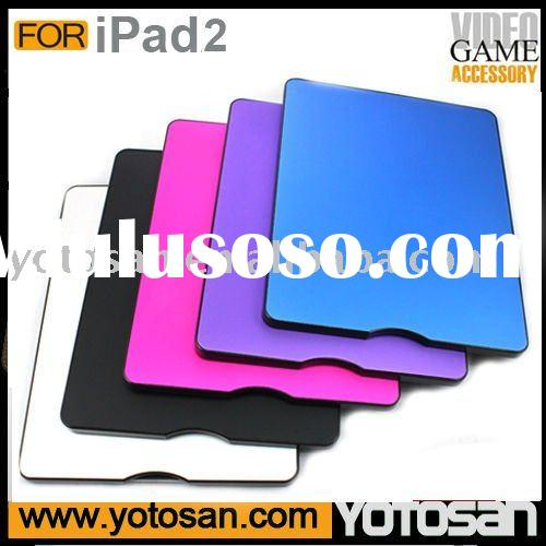 Plastic PC Aluminium case for fashion ipad 2 shell case cover for fashion iPad2 hard case
