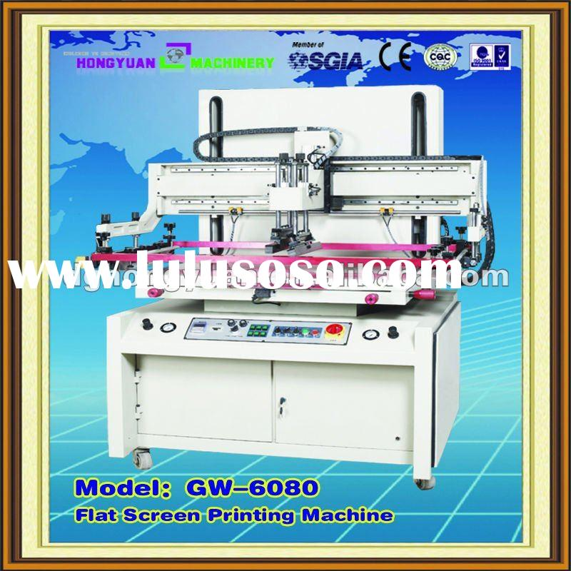 Pneumatic Flat Screen Printing Machine with Vacuum Table