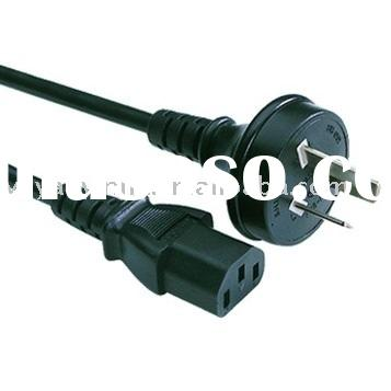 Power cord 3 pin plug to IEC Female connector for Australia or New Zealand (AS/NZ standard SAA appro