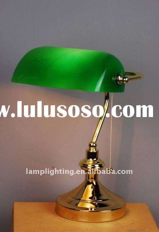 Quality Banker table lamp/light/lighting with pull switch