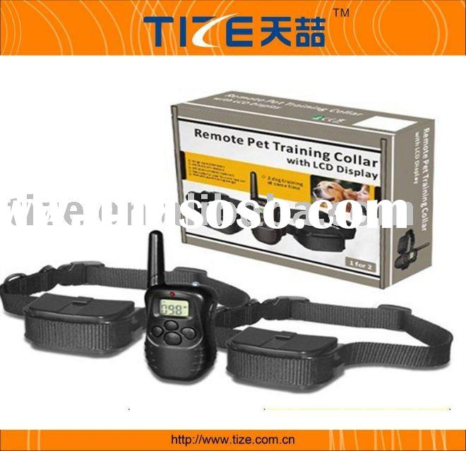 Remote control dog training collar with LCD display, electric dog collar, electric dog training coll