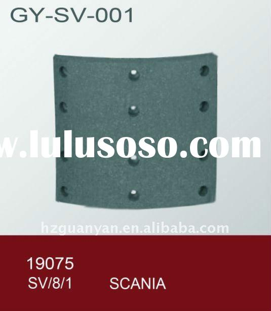 SCANIA brake lining,truck lining,lining brake,auto parts,truck parts