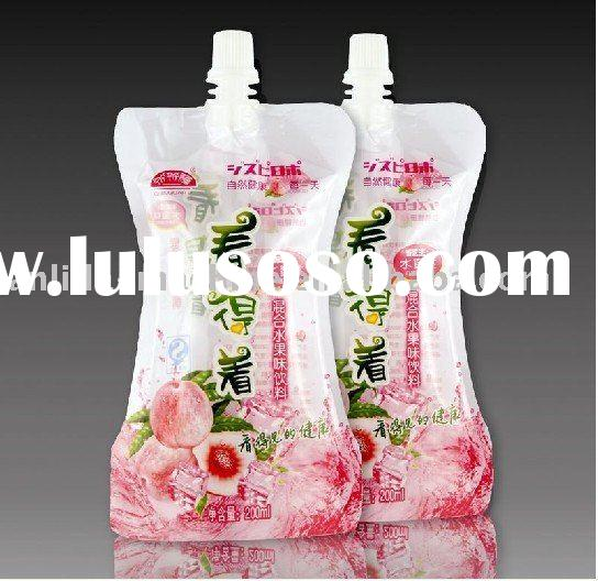 Spout pouch beverage bag filling sealing packing machine