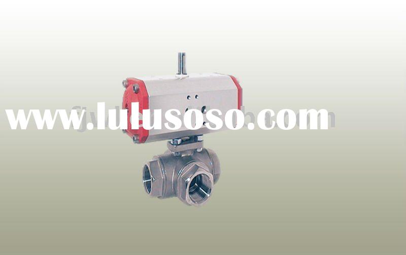 Stainless Steel Electric Actuated 3 Way Flanged Ball Valve