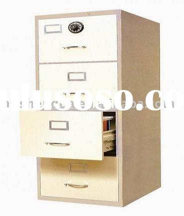 Steel filing cabinet with one combination lock