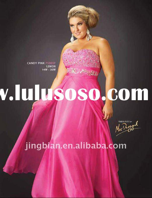 Sweet Beaded Lady Dress Latest Dresses Designs Formal Candy Pink Plus size evening Gowns ED786