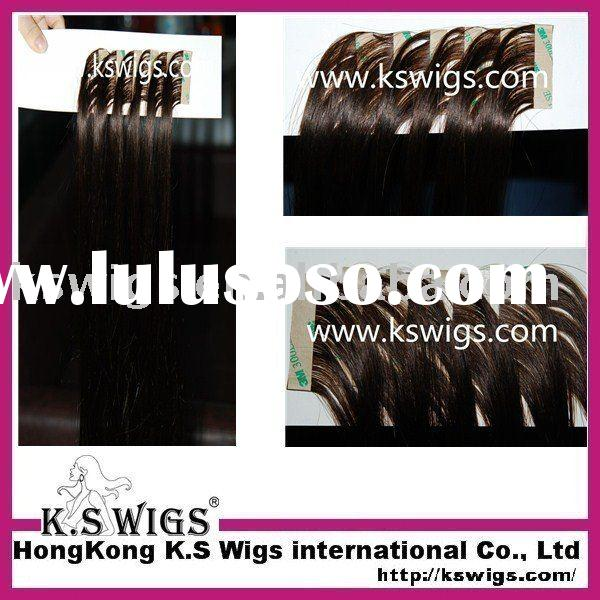 Top quality glue hair skin weft extension