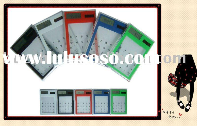 Transparent Solar Calculator with Touch Screen