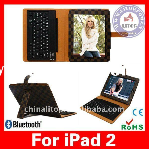 Waterproof Foldable Bluetooth Wireless Hard Plastic Keyboard with High-class Leather Folio Guard Pro