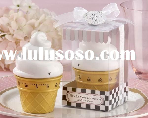 """Wedding gift of """"Sweet Celebrations"""" Ice Cream Cone Kitchen Timer Favor"""