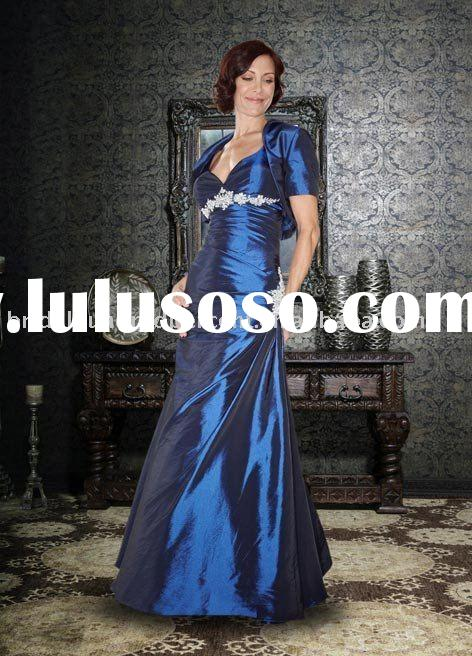 Wholesale cheap high quality glossy satin fashion design mother evening dress/gown dressEB-3960