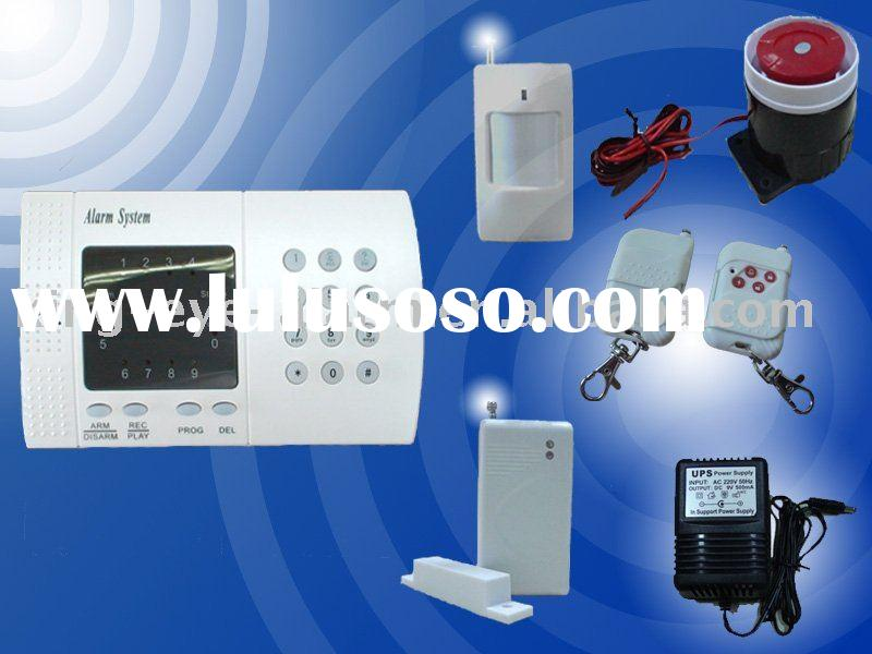 Wireless telephone line door alarm