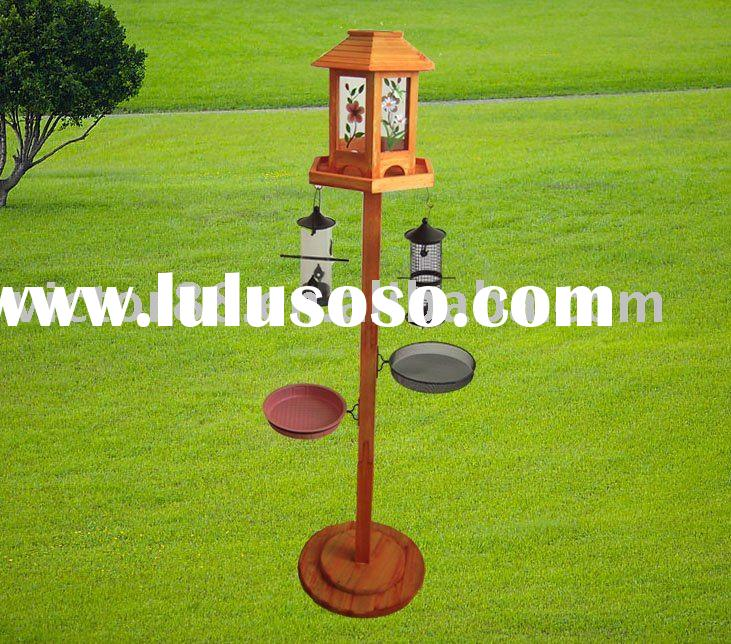 Bird Feeding Station With Solar Light And Planter For Sale