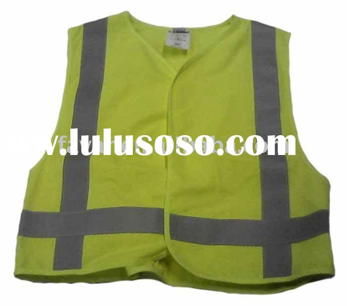 Worker High Vis Yellow Vest Reflective Safety Vest