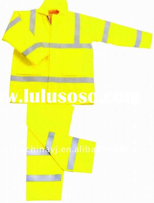 Yellow Safety Reflective Jacket Suit