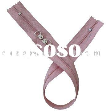 #3 two way and closed end. nylon zipper