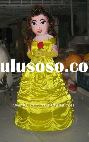 adult belle princess mascot costumes free shipping