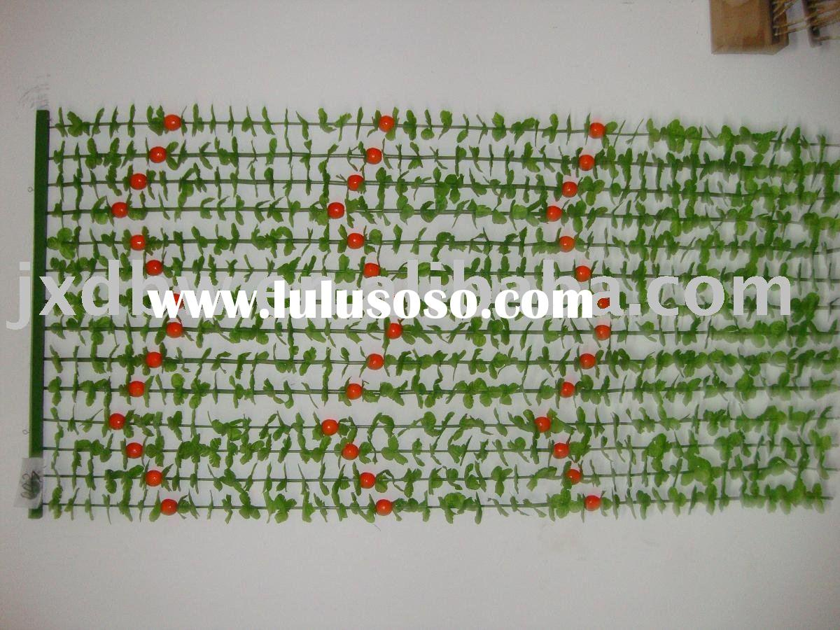 beaded door curtains with plastic flower decoration