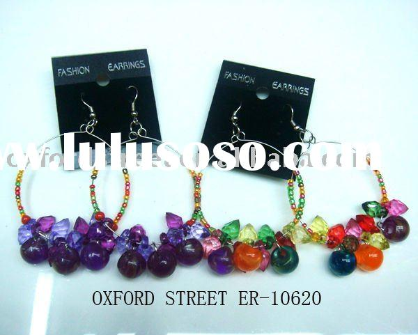 beads acrylic earring with newest fashion design