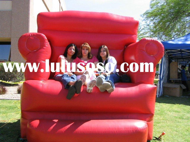 big red chair,inflatable chair,inflatable bouncer chair