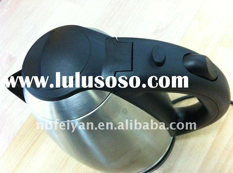 black and stainless electric kettle