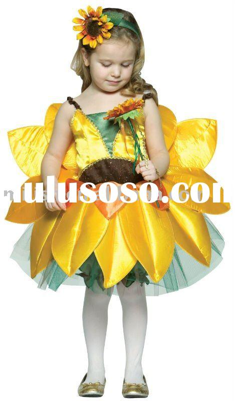 children costume/flower costume/kids fancy dress MAC-0089