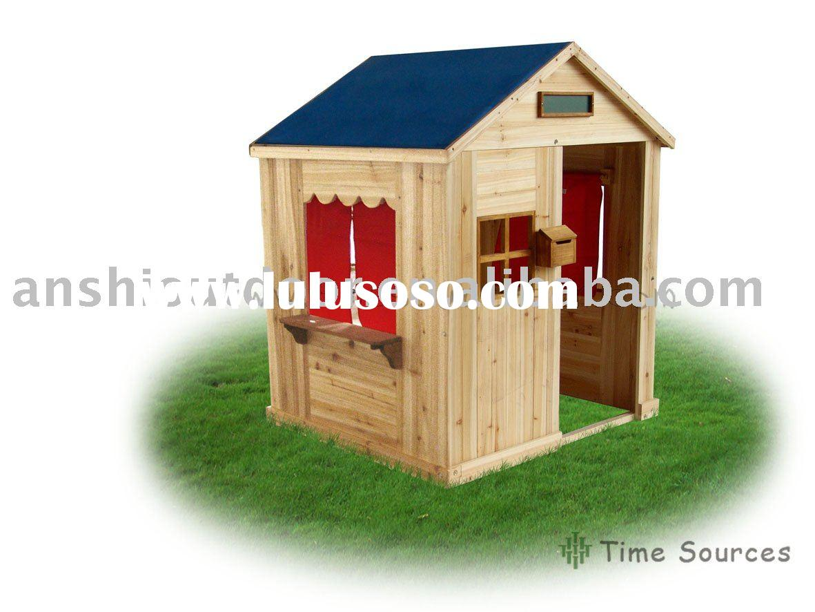 Outdoor wooden playhouse wooden house kids playhouse for Outdoor playhouse for sale used