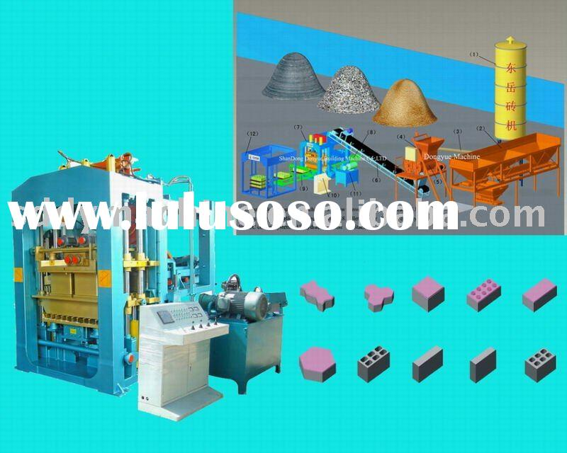 clay block/brick making machine,hollow block machine,concrete block machine,paving /interlock machin