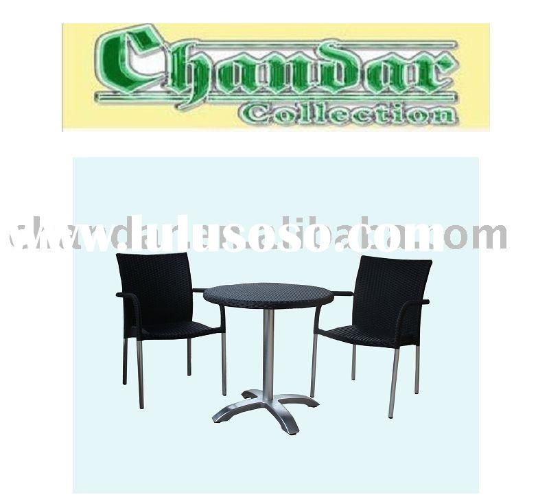 coffee shop furniture,chairs and tables,outdoor rattan furniture, wicker dining table and chair