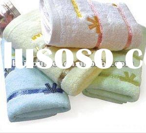 colourful soft jacquard 100% cotton face towel